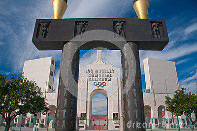 Los Angeles Olympic Coliseum Editorial Stock Image