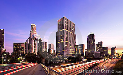 Los Angeles at rush hour