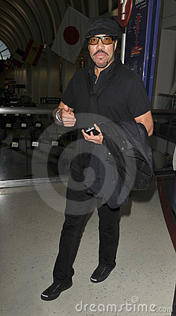 LOS ANGELES -Singer Lionel Richie is seen at LAX . Editorial Photography