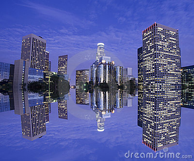 Los Angeles Skyline Royalty Free Stock Photography - Image: 6140837