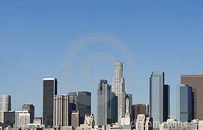 Los Angeles Skyline at Daybreak