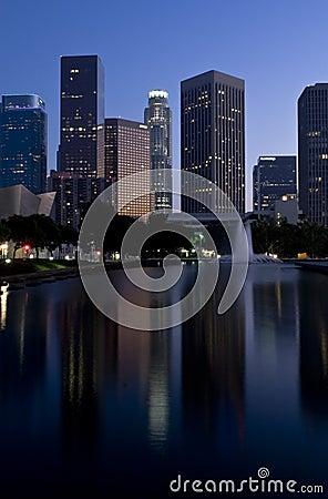 Los Angeles Skyline at Dusk
