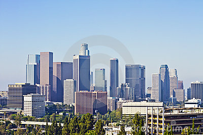 Los Angeles Skyline on an Early Morning Editorial Image