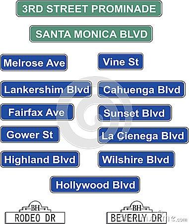 Los Angeles Street Signs