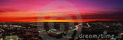 Los Angeles at sunset Editorial Stock Image