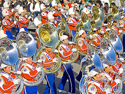 Los Angeles Unified School Marching Band Editorial Stock Photo