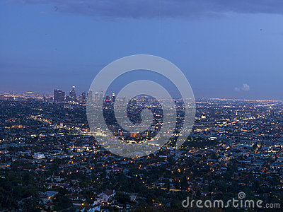 Los angeles view on sunset, California, USA Editorial Image