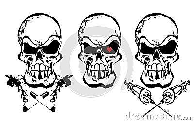 Los cráneos de las dependencias