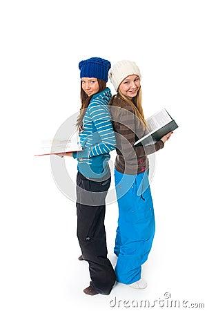 Los dos estudiantes jovenes