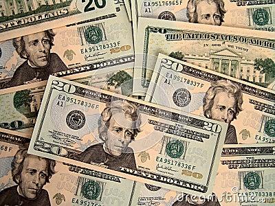 Los E.E.U.U. veinte cuentas de dólar