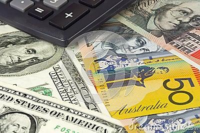 Los E.E.U.U. y pares australianos del dinero en circulación