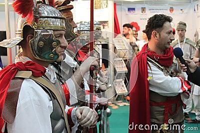 Hombres romanos Foto editorial