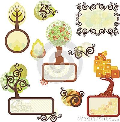 Los paneles del árbol