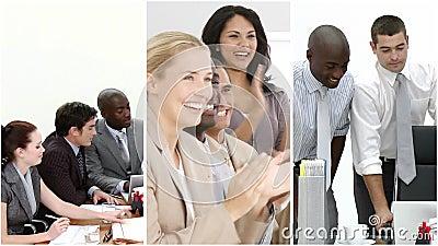 Los paneles del negocio del trabajo en equipo metrajes
