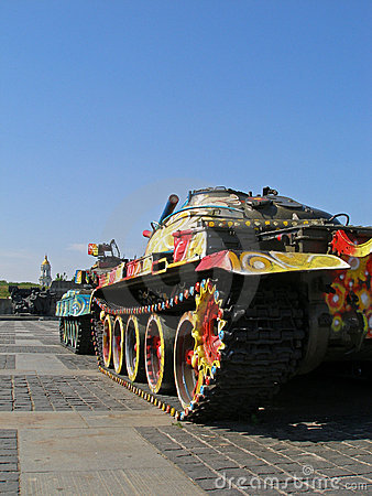 Los tanques coloreados