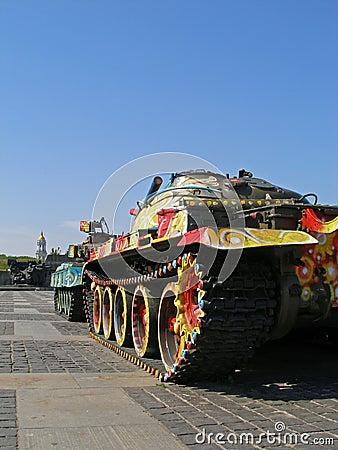 Los tanques coloreados