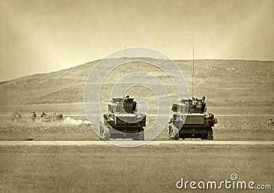 Los tanques en batalla