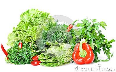 Verduras aisladas