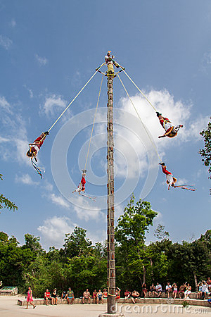 Los Voladores de Papantla Mexico Editorial Photography