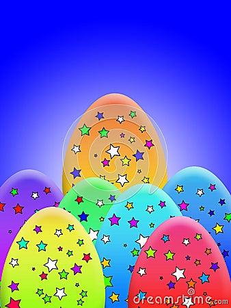 Stern bedeckte Eier
