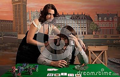 Losing at poker.