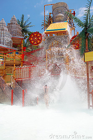 Lost city attraction in the water park