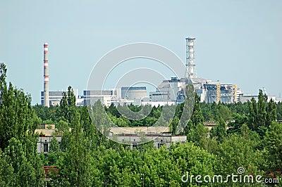Lost city Pripyat and Chernobyl power station