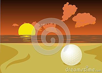 Lost golf ball
