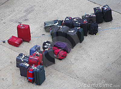 Lost luggage suitcases