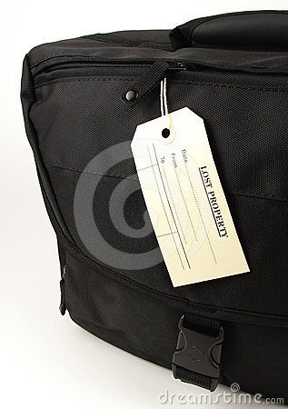 Lost property black bag