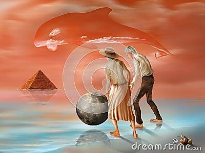 Lost pyramid