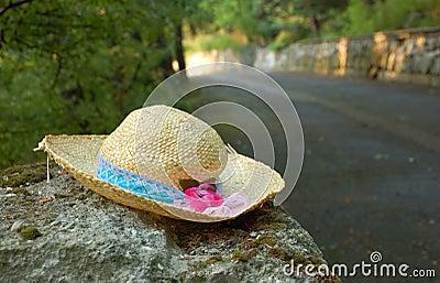 Lost straw lady s hat