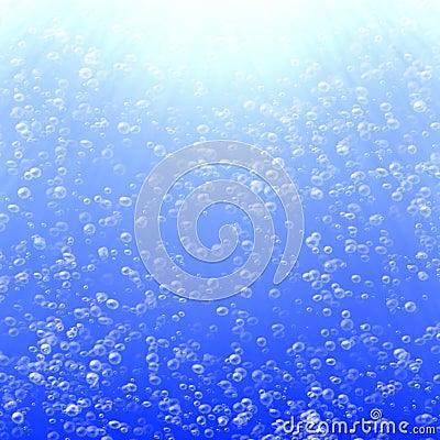 A lot of air bubbles