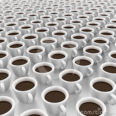 It is a lot of cups of coffee
