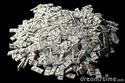 A lot of dollar bills
