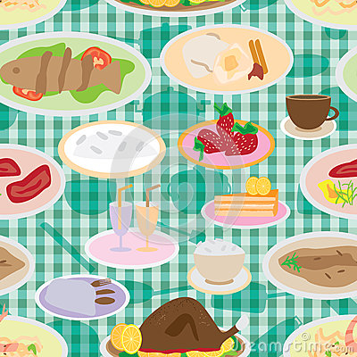 A Lot Of Food Seamless Pattern_eps