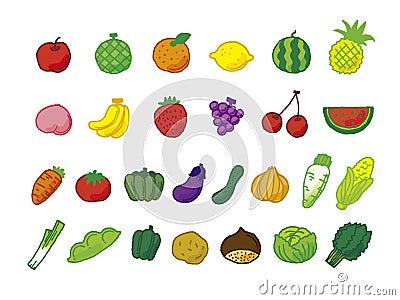A lot of fruit vegetables
