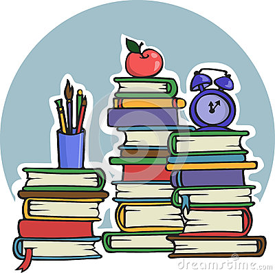 A lot of manuals books for school education and college - Vector Illustration