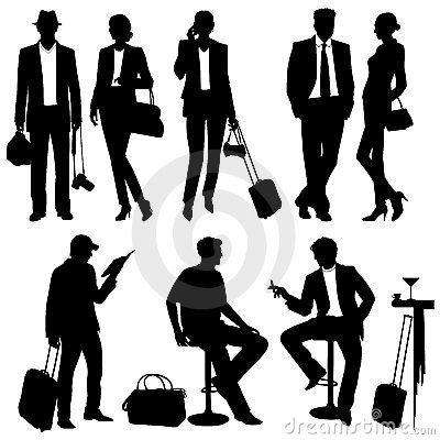 Free Lot Of People -  Silhouettes Royalty Free Stock Photo - 18943925