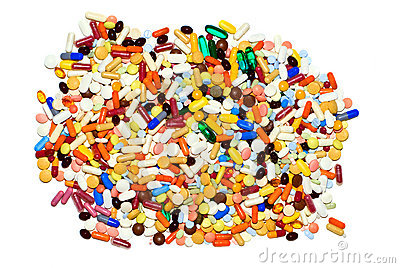 Lot of pills, isolated