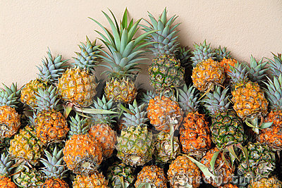 A lot of pineapples