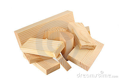 Lot of wood bricks