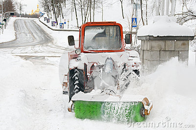 A lot of work after snow blizzard