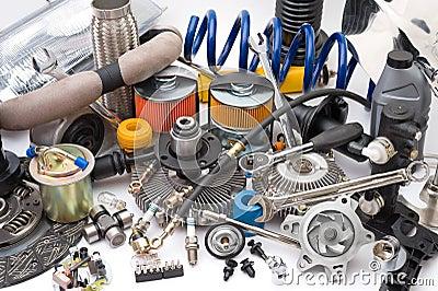 Lotes das peças de automóvel