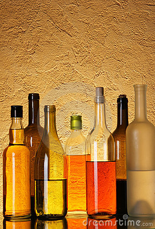 Free Lots Bottles Of Alcohol Royalty Free Stock Photos - 4513978