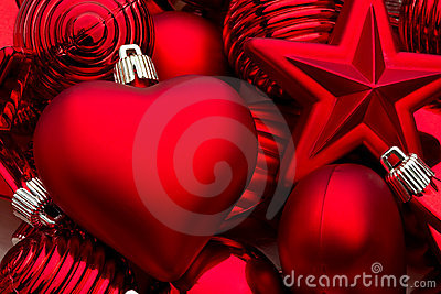 Lots of Christmas decorations
