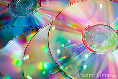 Lots of  color cd disks