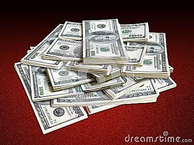 Lots of dollar bills