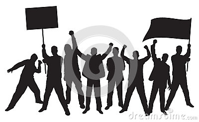 Lots Of Furious People Protesting Royalty Free Stock Photo - Image: 26075955