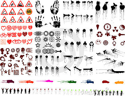 Lots of grunge images (vectors